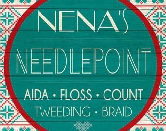 Custom Needlepoint Sign Digital Download