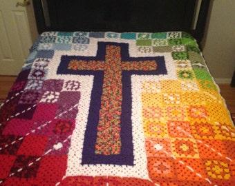 Crochet Cross Afghan Pattern