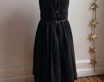 1950's style flared prom dress/size uk -16