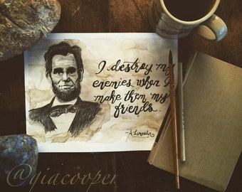 Coffee Watercolor Art and Typography