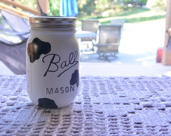 Cow Ball Mason Jar