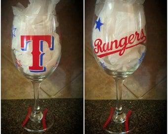 Texas Ranger Wine Glass