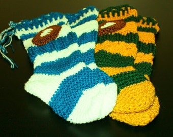 Knee High Football Slipper Socks
