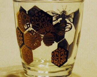 "Vintage ""Honey Bee"" Liquor Glass"