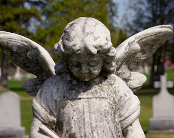 stone angel,digital download,cemetery photograph,outdoor photograph,seasonal photograph