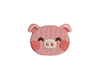 Cute little pig - Machine embroidery design. 3 sizes. Instant download