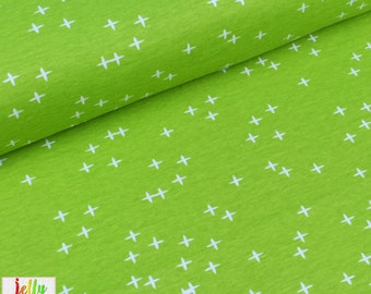 ORGANIC Interlock KNIT Fabric - Wink in Grass from Mod Basics 3 Collection by Birch Fabrics - UK Seller