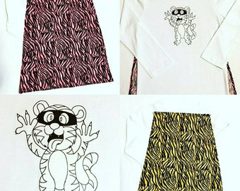 Cheeky Tiger Cape T shirt pink