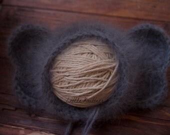 Newborn Knitted Elephant French Angora