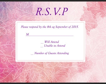 Watercolor Wedding RSVP PDF