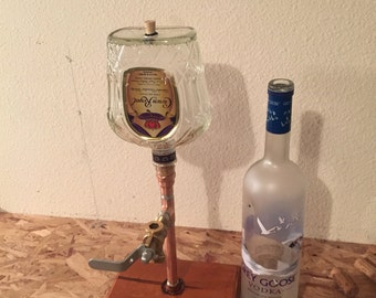 Liquor Dispenser With Bottle And Base