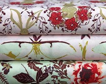Forest Floor Fabric Bundle, Art Gallery Fabric Bundle, Floral Fabric, Fat Quarter Bundle, Half of a Metre Fabric, Quilting Fabric