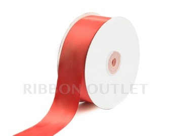 "1 1/2"" Coral Satin Ribbon 50 Yards Per Roll"