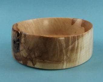 Busy little green turned maple dish