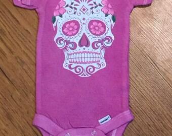 Day of the Dead Onesie, Dia De Los Muertos, skull, sugar skull