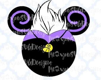 Ursula Mouse Head SVG,EPS,PNG,Studio