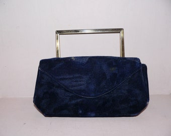 Velvet Purse and Pill Box Hat Set
