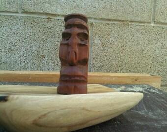 Hand carved cherry wood tiki
