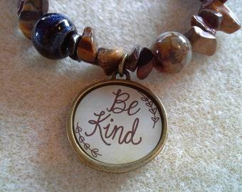 Be Kind charm bracelet