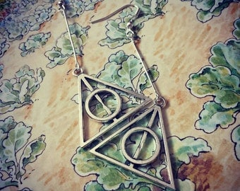 Harry Potter Deathly Hallows earrings.