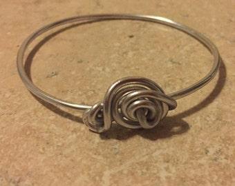 Handmade silver wired bracelet