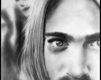 Kurt Cobain Pencil Portrait Original