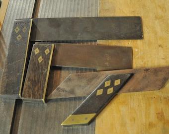 antique wood-old teams set set wooden square