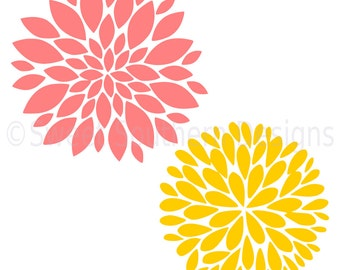 Dahlia flower SVG instant download design for cricut or silhouette