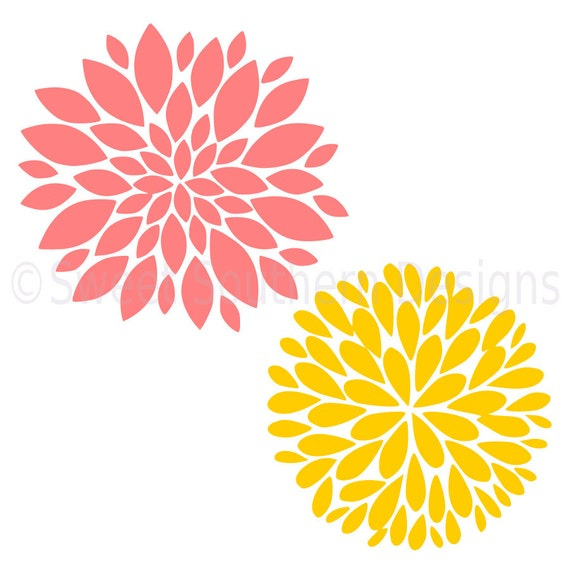 Dahlia Flower Svg Instant Download Design For Cricut Or