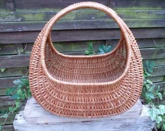 Basket gondola, wicker basket, basket vintage, market basket, basket rattan