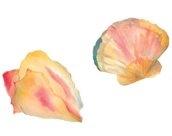 Watercolor Seashells Download