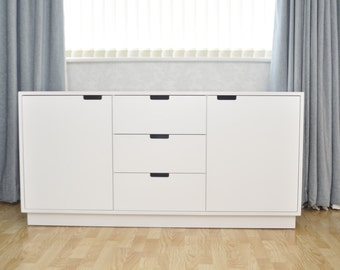 White Modern Upcycled Sideboard