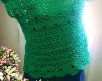 Larguinha crochet blouse
