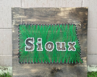 North Dakota Fighting Sioux String Art