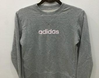 Vintage 90's Adidas Grey Design Skate Sweat Shirt Sweater Varsity Jacket Size M #A4