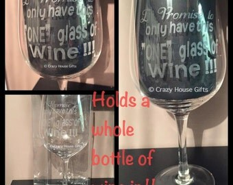 Personalised whole bottle wine glass