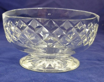Lead Crystal Glass Footed Dessert or Grapefruit Bowl