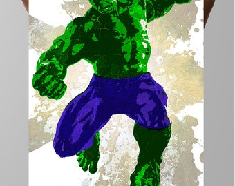 The Hulk Comic Poster,  Dr. Bruce Banner, Marvel Universe