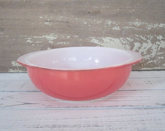 Vintage Pink Pyrex 024 2 Quart Pink Pyrex Ovenware Bowl Casserole Dish Flamingo