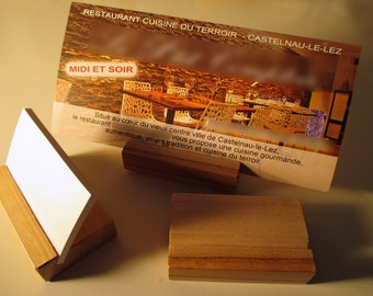 bracket solid wood for business cards, flyers... CYPRESS WOOD