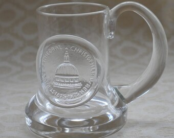 Customised Glass Tankard