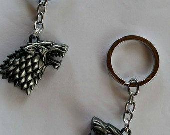 Game of thrones keychain - Stark keychain 3D - Stark's direwolf - House Stark - Wolf keyring - Winter is coming - GOT accessories - Jon Snow