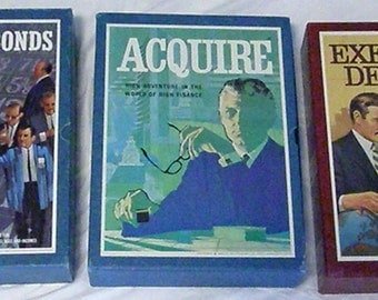 Set of three 3M Bookshelf games: Stocks and Bonds, Executive Decision, Acquire. All in very good condition