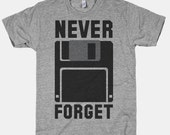 never forget floppy disk grey geek unisex t-shirt