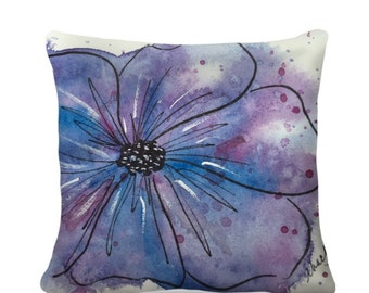 Designer Watercolor Pillow Sham Home Decor