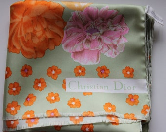 Vintage authentic Christian Dior silk scarf