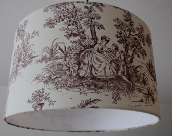 "Ceiling lamp ""toile de Jouy"" (Brown)"