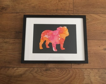 Bulldog Silhouette Print