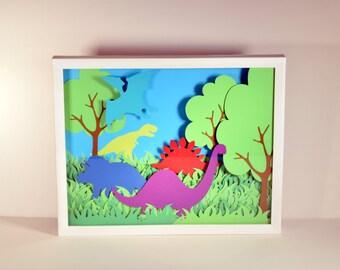 Dinosaur Paper Cut Art