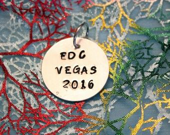 EDC Las Vegas stamped pendant